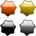stars, badge, sticker