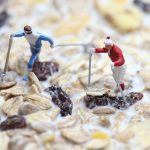 cereal, nordic walking, miniature figures