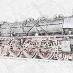 steam locomotive, model, scale h0