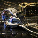 wrist watch, watchmaker, miniature figures