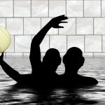 water polo, pool, ball