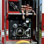 fire engine, supplies, fire hose