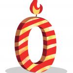 zero birthday candle, 0 birthday candle, birthday candles