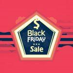 black friday, pentagon shape sticker, closeout