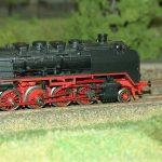 model train, steam locomotive, track h0