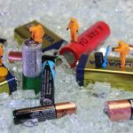recycling, battery, miniature figures