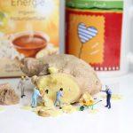 ginger, tea, miniature figures