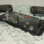 recycling, mobile, miniature figures