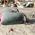 mother's day, heart, miniature figures
