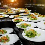 dishes of food, rich food, plates