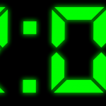 clock, digital, numbers