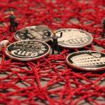 miniature figures, handyman, coin