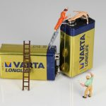 battery, energy, miniature figures