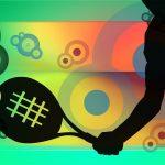 tennis, bat, silhouettes