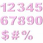 baby, pink, number