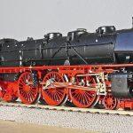 steam locomotive, model, track h0
