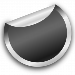 silver, sticker, badge