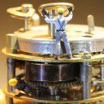 clockwork, mechanics, miniature figures